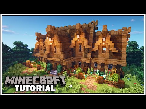 Minecraft Large Nordic House Tutorial How To Build Youtube