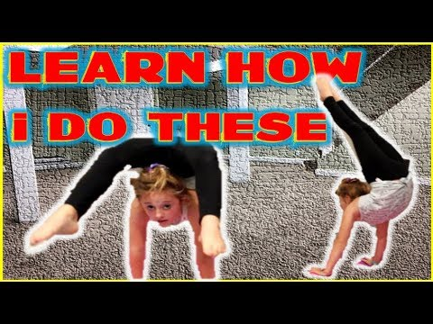How To Do A Arched Handstand For Beginners | How To Do A Backbend Into A Contortion Handstand