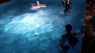 Съёмки клипа под водой.Русалина Селентай