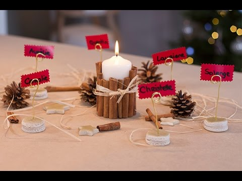 Diy no l marque places macarons youtube for Table maison de famille