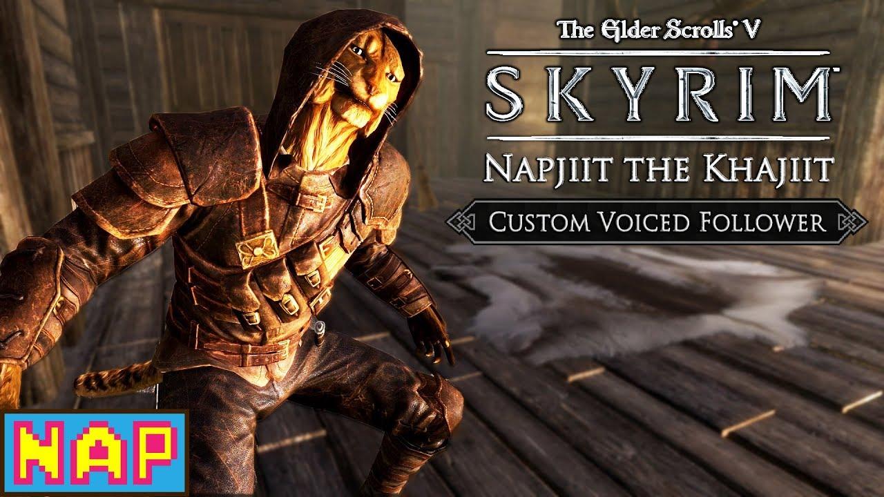 Napjiit the Khajiit - Custom Voiced Khajiit Follower Mod