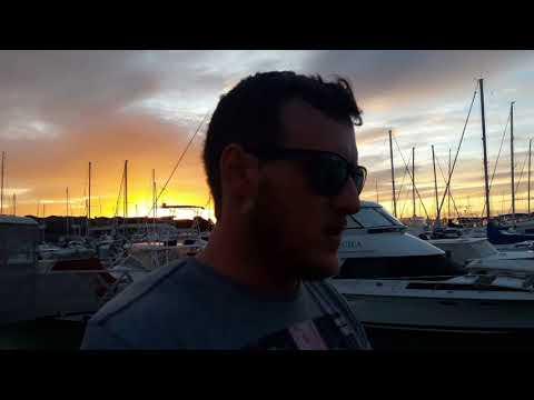 Beautifull Sunset at Half Moon Bay Marina
