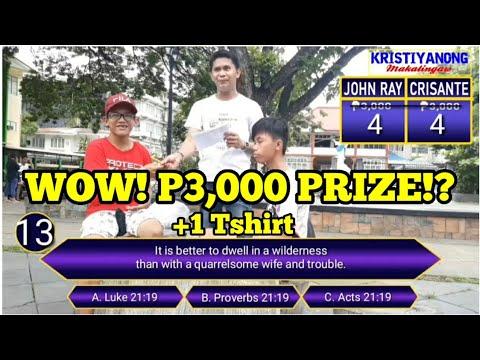 BIBLE Challenge Battle - P3,000 Prize! John Ray (SJC) Vs Crisante (College Of Maasin) Vlog #6