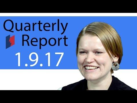 Unemployment Insurance Quarterly Report 1/9/17