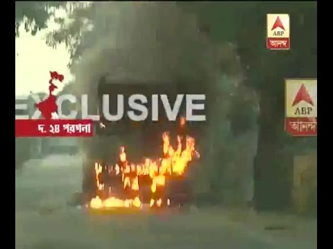 Bhangar on Boil: Police-Public skirmish continue, police car thrown in the pond