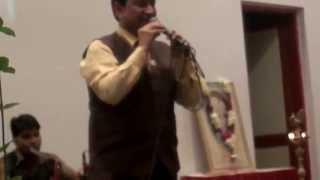 Hemant Kumar Tamta General Manager Canara Bank singing at the CanBank Family Meet at RSTC Gurgn