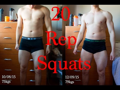 Review of the 20 Rep Squat Routine (Before & After)