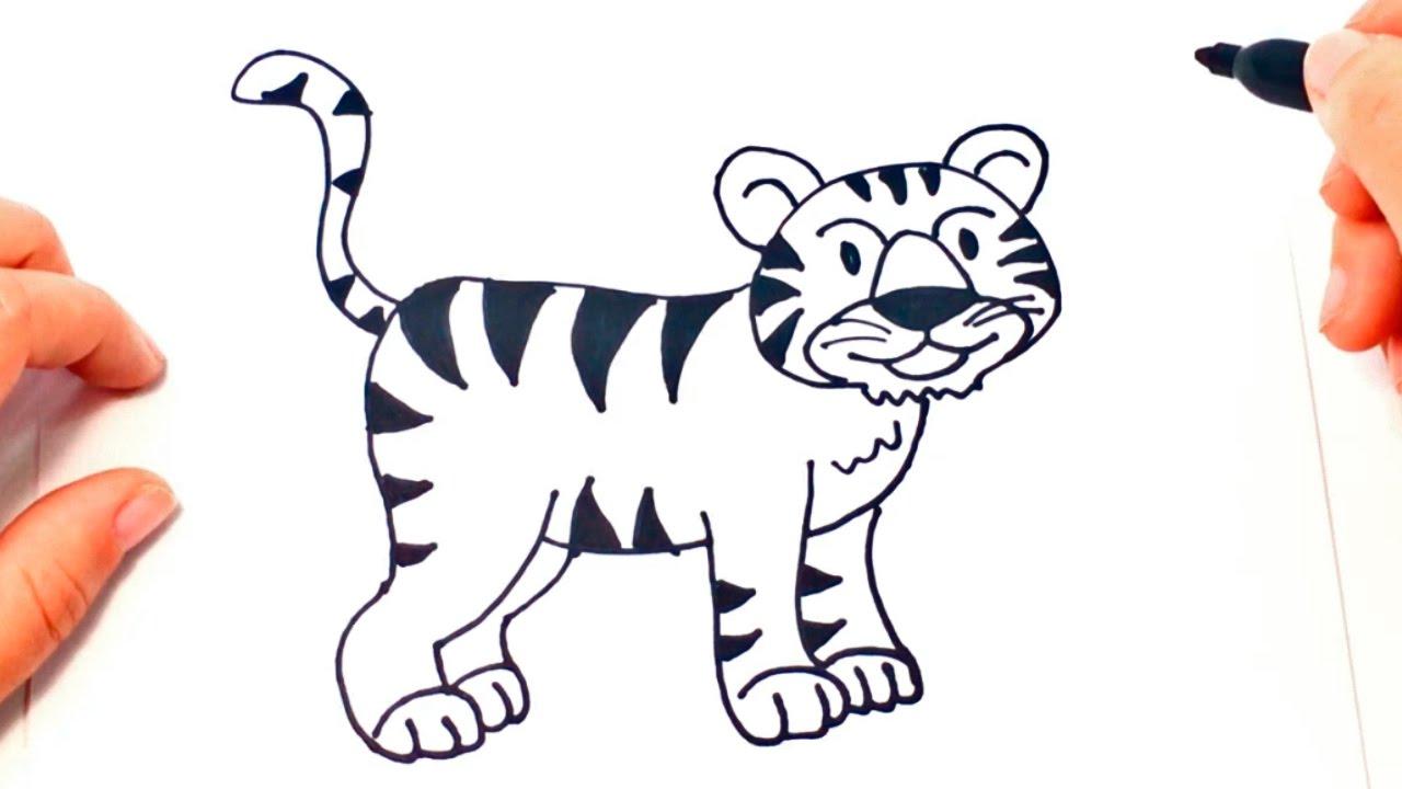 Dibujos De Caras De Tigres Para Colorear: Cómo Dibujar Un Tigre Paso A Paso