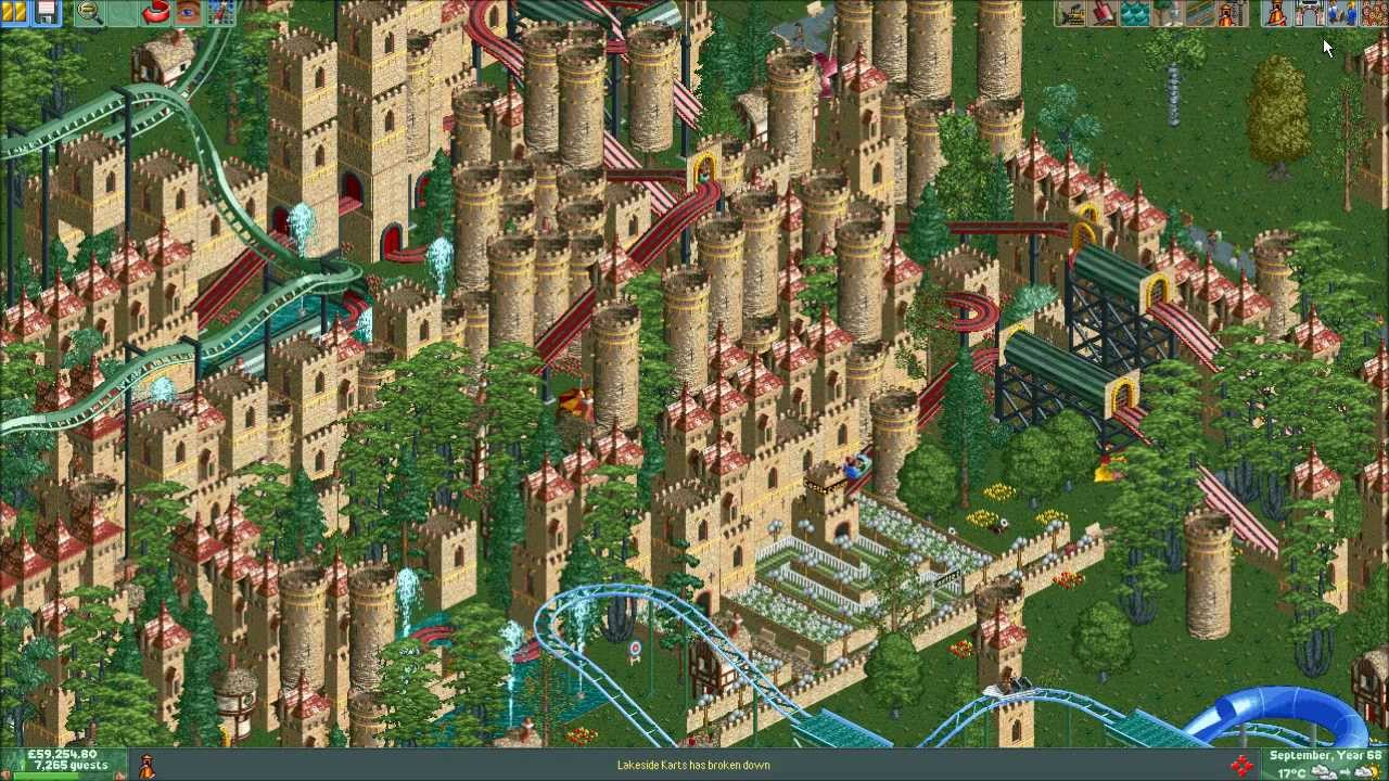 Rollercoaster Tycoon 2 - Biggest Park Possible! 720p