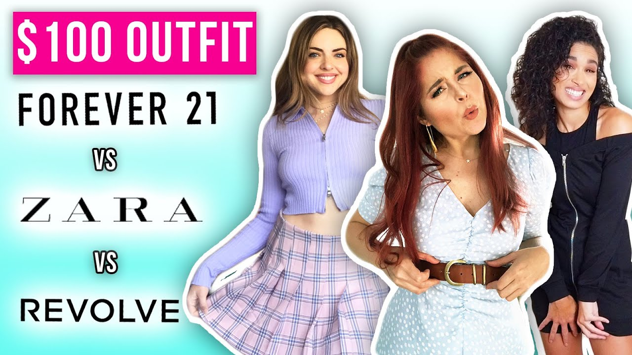 $100 Outfit Challenge: What Can You Get at Forever 21, Zara & Revolve?!