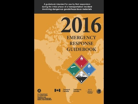 How to Use the 2016 Emergency Response Guidebook (ERG)