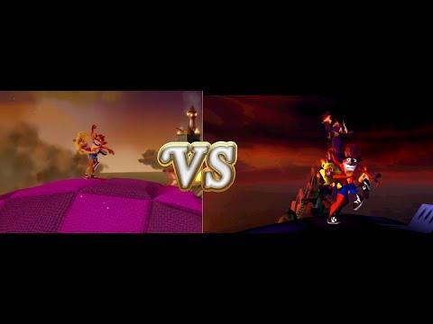 Crash Bandicoot - ending comparison