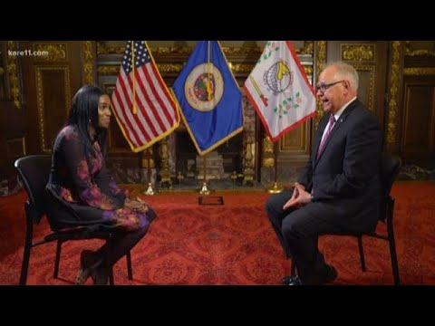 Gov. Tim Walz talks about tomorrow's State of the State