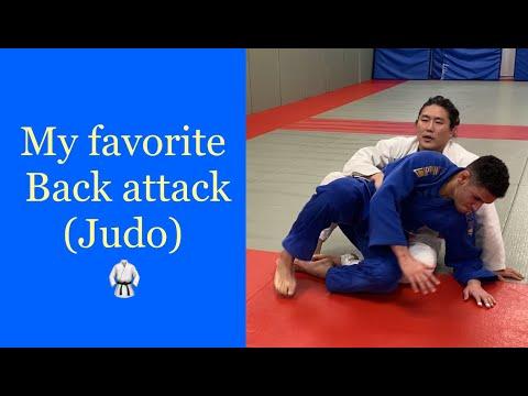 Judo newaza attacking the back