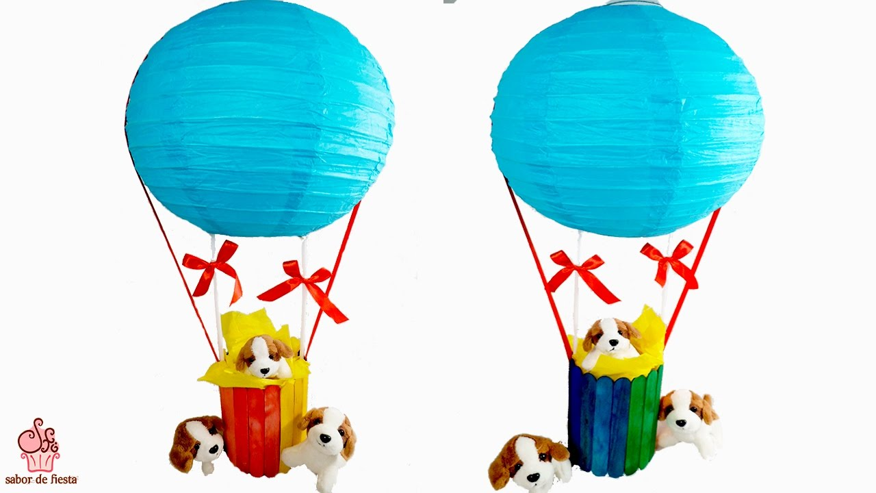 Centro de mesa globo aerost tico sabor de fiesta youtube - Globos aerostaticos infantiles ...
