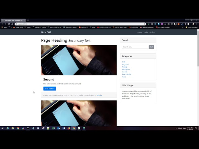 Nodejs CMS Tutorial For Beginners - Part 21 - Single Post Page