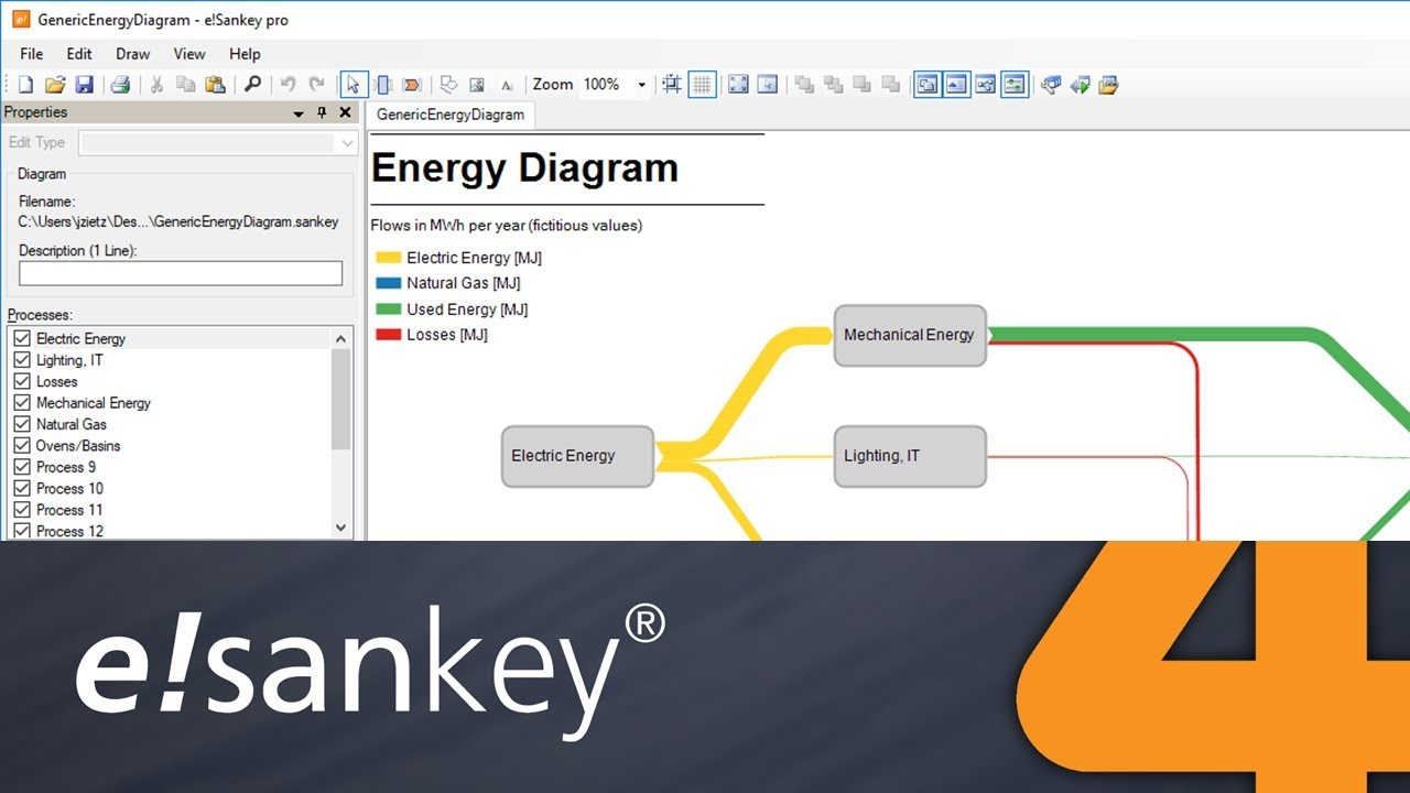 hight resolution of sankey 4 using e sankey live links to microsoft excel part 2