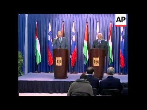 Palestinian leader Abbas meets Slovenian president, both on Hamas