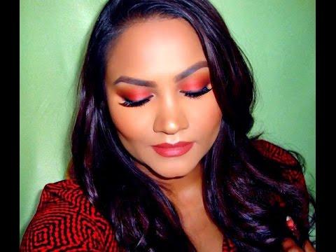 Summer Orange Glowy Makeup Look | Morphe 35O Matte Palette | Beauty By Ish