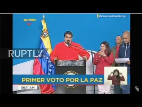 Venezuela: Maduro casts his vote in Constituent Assembly election