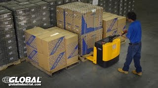 Global Industrial Electric Power Pallet Jack Truck 988294