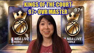 IMPRESSIVE 97+ OVR MASTER PLAYER KINGS OF THE COURT BUNDLE OPENING | NBA LIVE MOBILE