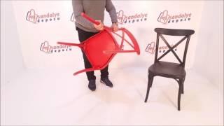 Ahşap görünümlü pp sandalye