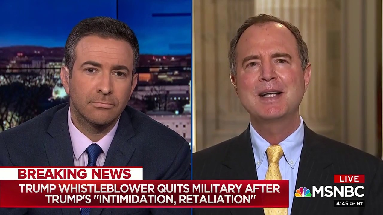 Rep. Schiff on MSNBC: Right Doesn't Matter to Trump, But it Matters to Vindman – and America