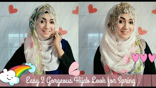 Easy 2 Gorgeous Hijab Style with Saree & Kamij for Spring ft Styline Collection   Pari ZaaD