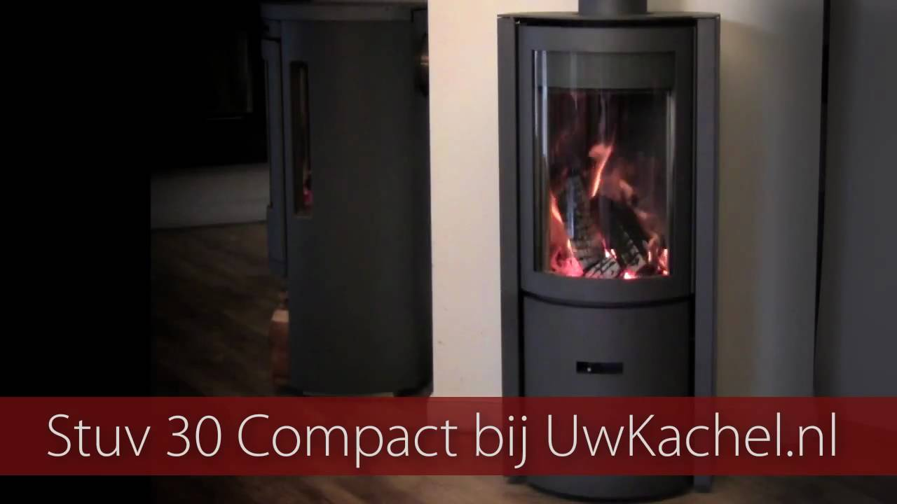stuv 30 compact houtkachel brandend bij uwkachel youtube. Black Bedroom Furniture Sets. Home Design Ideas