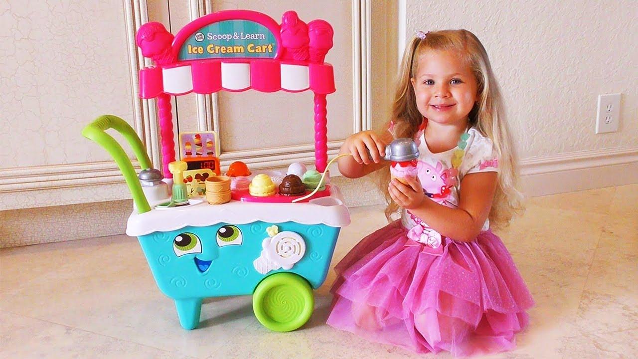 26b24b1f59313 Diana Pretend Play with ice cream Cart Toys - YouTube
