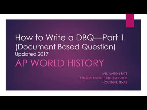 Standard DBQs - Step 2: Read, Annotate, and Label Documents
