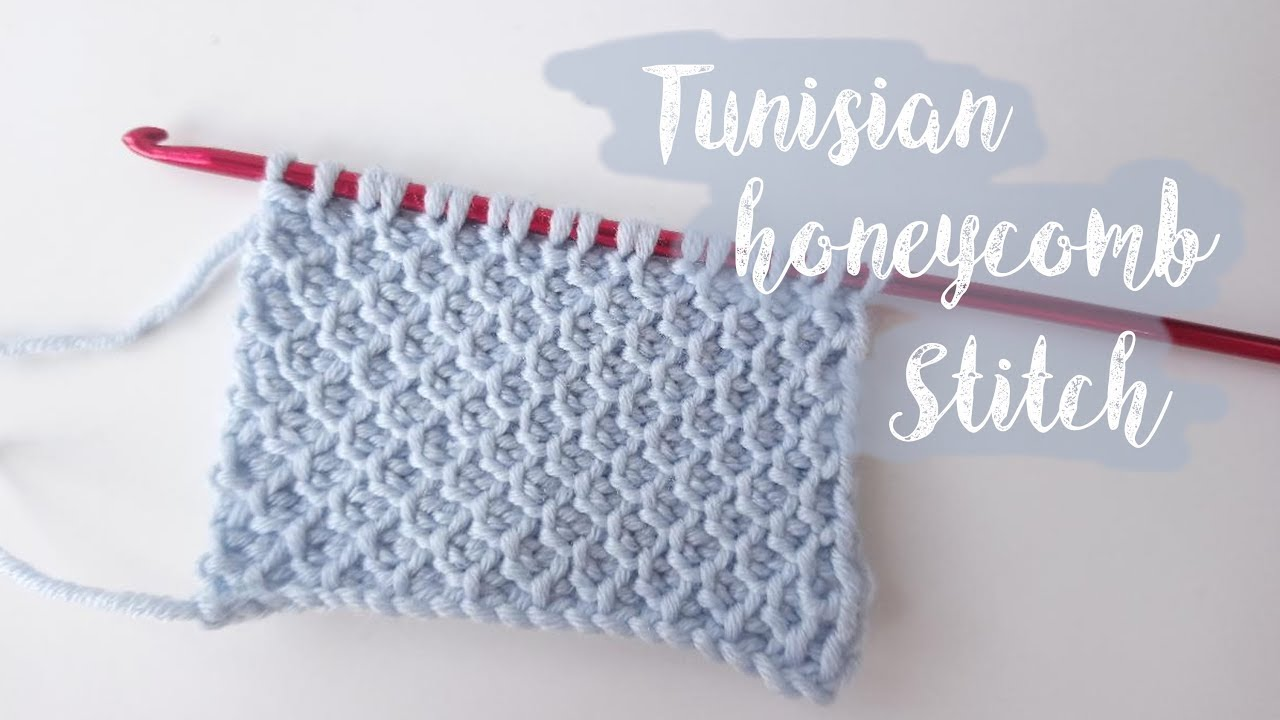 Tunisian Honeycomb Crochet Stitch Youtube