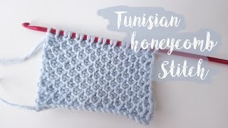 Tunisian Honeycomb Crochet Stitch