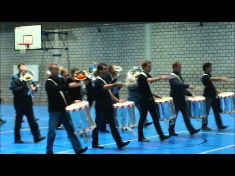 Parademusik mit Tambour-Major Stock