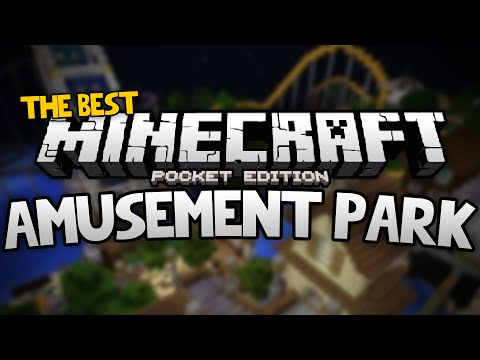BEST AMUSEMENT PARK For MCPE!!! - Rollercoasters, Minigames, & More! - Minecraft PE (Pocket Edition)