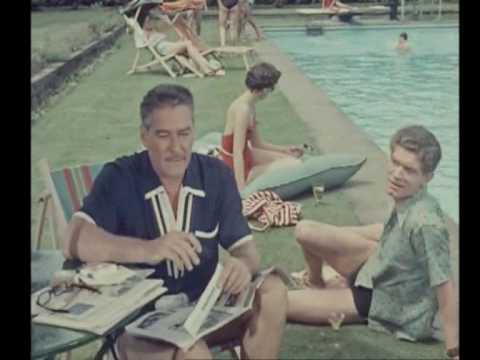 Rare - Stephen Boyd & Errol Flynn - Stephen Boyd's Movie Debut! (1954)