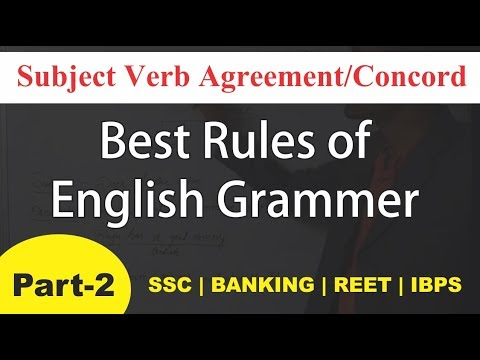 Subject Verb Agreementconcord Part 2 Learn Grammar With English
