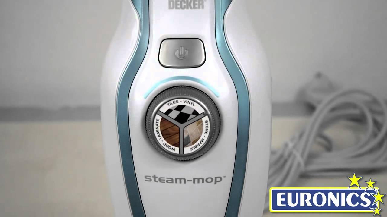 Black decker steam mop fsm1610 youtube for Black decker lavapavimenti a vapore steam mop fsmh1321jmd