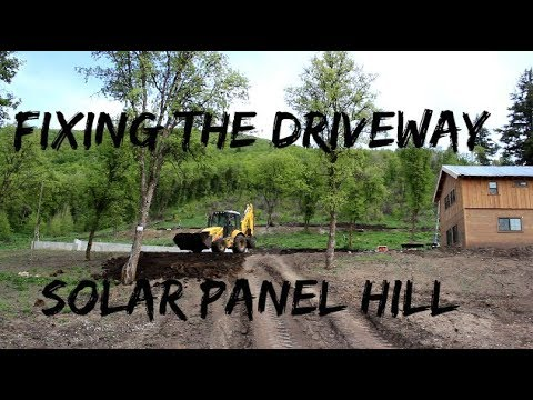 diy-home-build-fixing-the-driveway-and-hill-for-solar-panels
