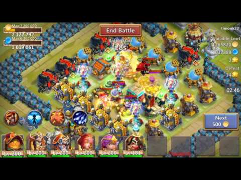 Castle Clash - NEW Hero! Michael, Gameplay And Review