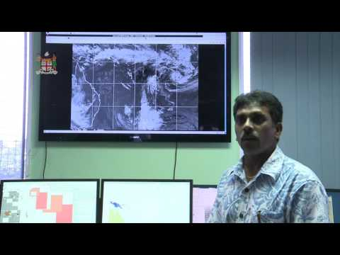 Fijian Meteorological Office 10am briefing on Tropical Cyclone Ula 01/01/16