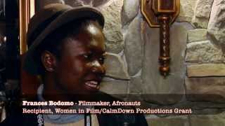Filmmaker Frances Bodomo is a 2014 Sundance recipient of a Women in Film/CalmDown Productions Grant