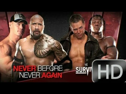 John Cena & The Rock vs R. Truth & The Miz   Super Classic Match [HD]