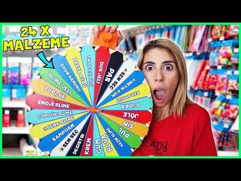 Çarkıfelekten Ne Çıkarsa Slime Challenge Bol Malzeme Slaym Eğlenceli Çocuk Videosu Dila Kent
