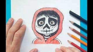 Como dibujar a Miguel paso a paso - Coco   How to draw Miguel - Coco