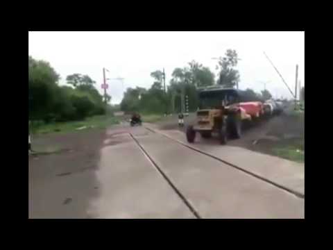 Antique train in india made by farmer