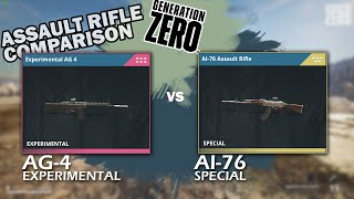 GENERATION ZERO - Assault rifles comparison AI-76 special vs AG-4 experimental [which is the best]