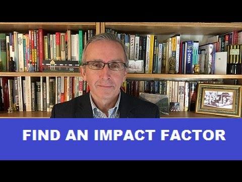 How To Find An Impact Factor
