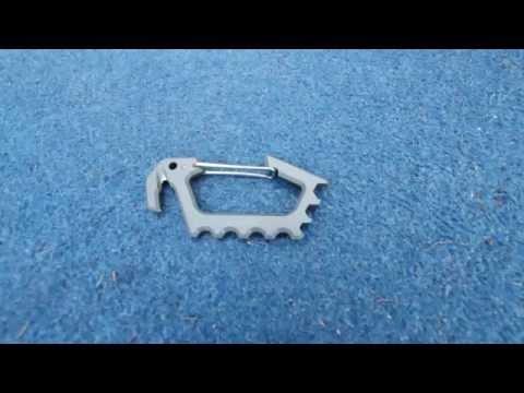 Kershaw Jen's Carabiner Titanium 1150TIX - video demo